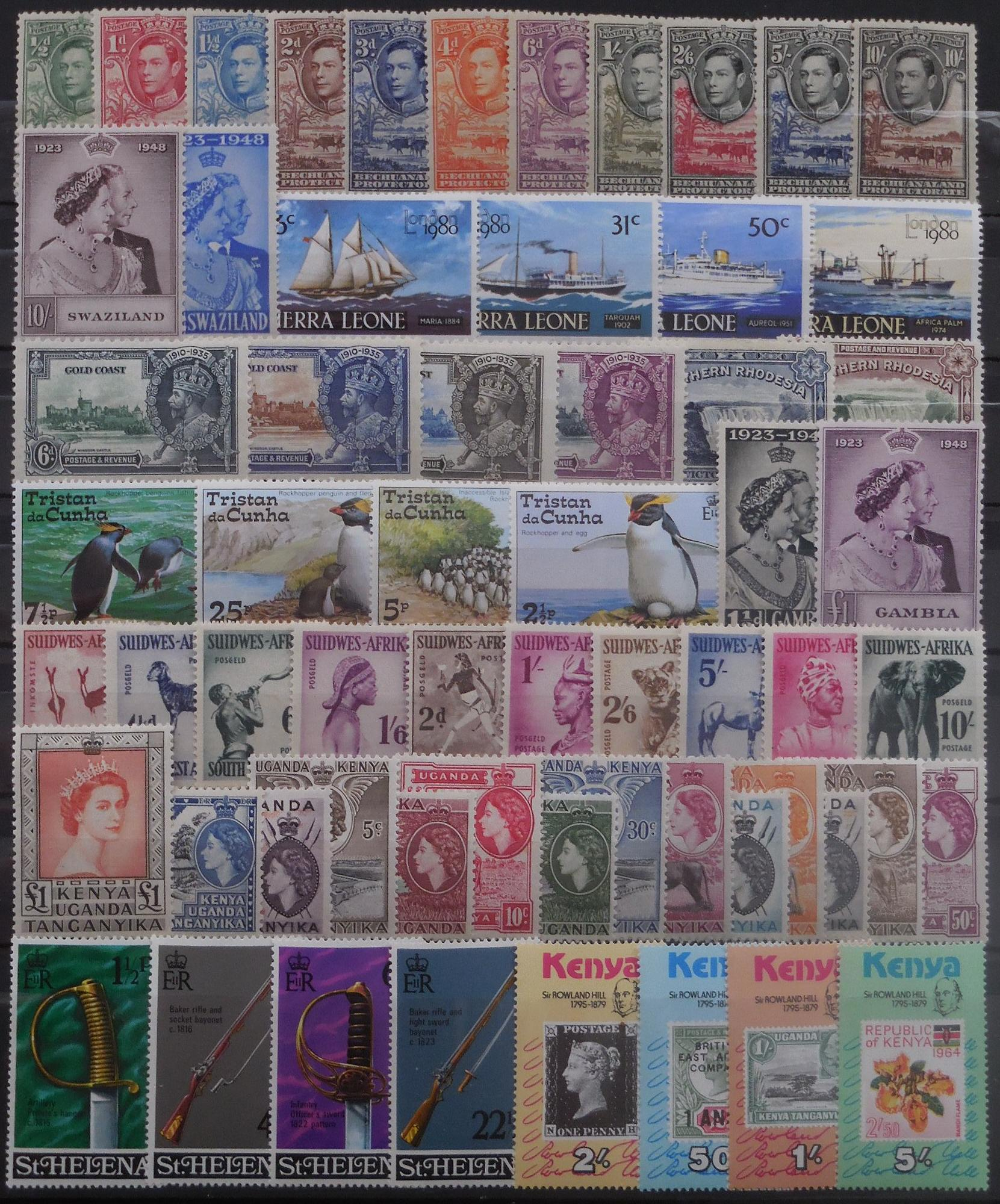 British africa stamps for collectors on approval